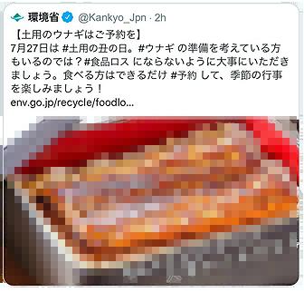 環境庁うなぎツイート.png